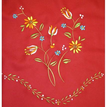 Tejido Falda Bordada Tulipan (Rojo)