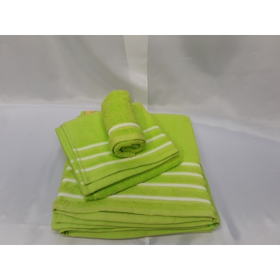 Juego tres piezas toallas LÍNEAS de Algodón