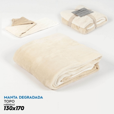 Manta Plaid Degradada