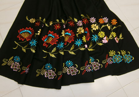 tejido para falda refajos geranio